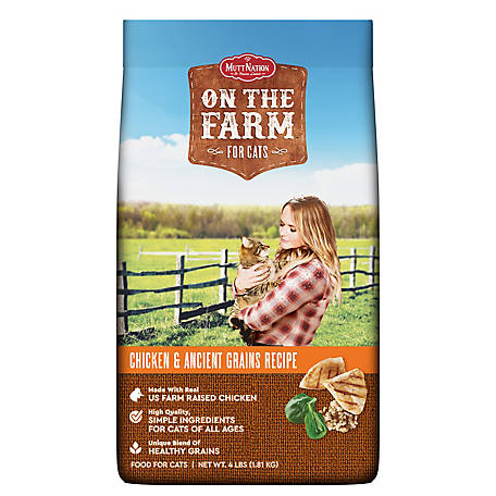 MuttNation on the Farm All Life Stages Cat Food, 4 lb. Bag
