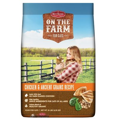 MuttNation On The Farm All Life Stages Cat Food, 14 lb. Bag at Tractor Supply Co.