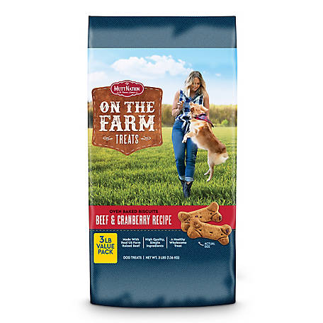 MuttNation on the Farm Crunchy Baked Biscuits with Beef & Cranberry, 3 lb. Bag