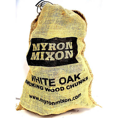 Myron Mixon Locally Harvested, Naturally Cured BBQ Wood Chunks for Smoking and Grilling, White Oak Flavor, MMOWC