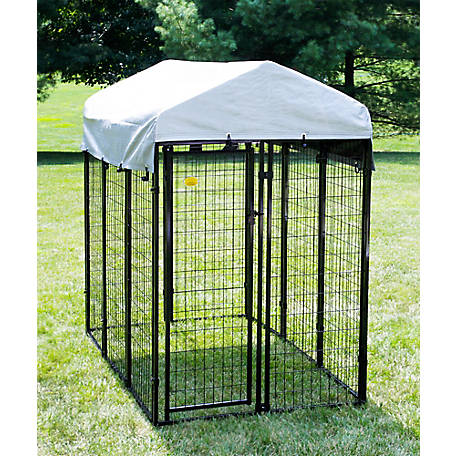 KennelMaster 6 ft. x 4 ft. x 6 ft. Welded Wire Kennel Kit, DK646WC