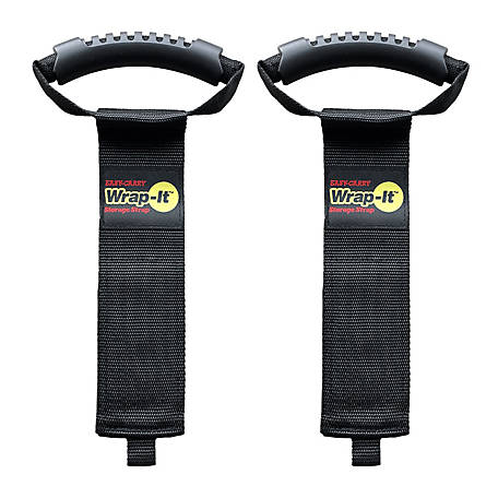 Wrap-It 22 in. Easy-Carry Storage Strap Heavy-Duty Hoop and Loop Cord and Hose Carrying Strap with Handle, 2 Pack, A102-H-22BX