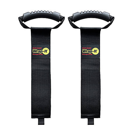 Wrap-It 28 in. Easy-Carry Storage Strap Heavy-Duty Hoop and Loop Cord and Hose Carrying Strap with Handle, 2 pk., A102-H-28BX