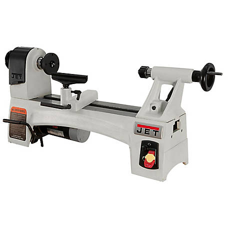 JET 10 in. x 15 in. Variable Speed Mini Wood Lathe Machine, 719110