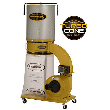 Powermatic PM1300TX-CK Dust Collector, 1.75HP, 1Ph 115/230V, 2-Micron Canister Kit, 1791079K