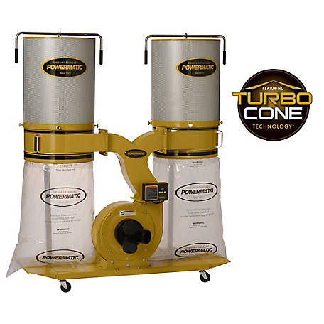 Powermatic PM1900TX-CK3 Dust Collector, 3HP 3PH 230/460V, 2-Micron Canister Kit, 1792074K