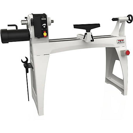 JET 18 in. x 40 in. Electronic Variable Speed Wood Lathe Machine, 719600