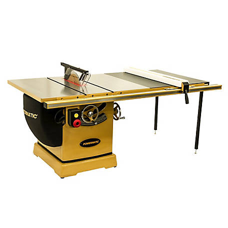 Powermatic 14 in. Cabinet Table Saw, 50 in. RIP with Accu-Fence, 7-1/2HP 230/460V 3PH, PM375350K