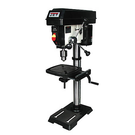 JET 12 in. Benchtop Drill Press with Digital Read Out (DRO), Variable Speed, 1/2HP, 716000