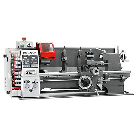 JET 9 in. x 19 in. Belt Drive Bench Metal Lathe, 321378