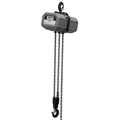 JET 2 Ton, 10ft. Lift, 115/230V Electric Chain Hoist, 211000