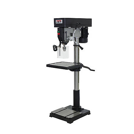 JET 22 in. Industrial Step Pulley Floor Drill Press, 354301