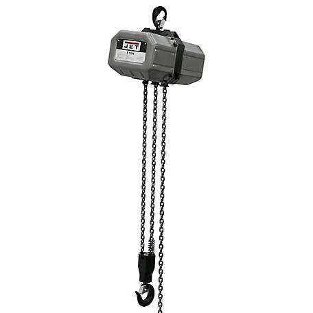 JET 1 Ton 20 ft. Lift Electric Chain Hoist 115V/230V, 1PH, 112000