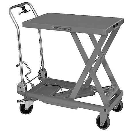 JET Folding Handle Lift Table, Quick-Lift Pump, 660-lb. Capacity, 140777