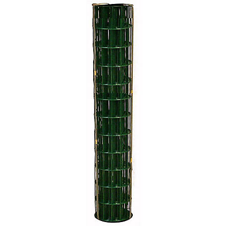 allFENZ 14 Gauge 48 in. x 100 ft. PVC Coated Welded Wire Fence, Green, YG481002414G