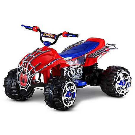 Kid Trax Spiderman 12V Quad Ride-on Toy, KT1301I