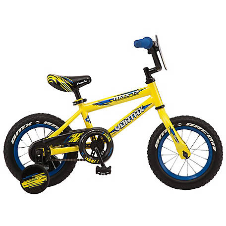Pacific Boys' Vortax 12 Bicycle, Yellow, 124054P