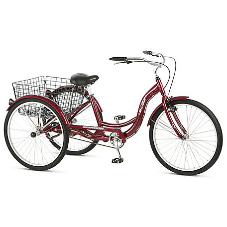 Schwinn Meridian 26 Adult Tricycle, Cherry Red, S4002