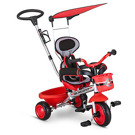 Schwinn Easy Steer 4-in-1 Tricycle, Red, S6767