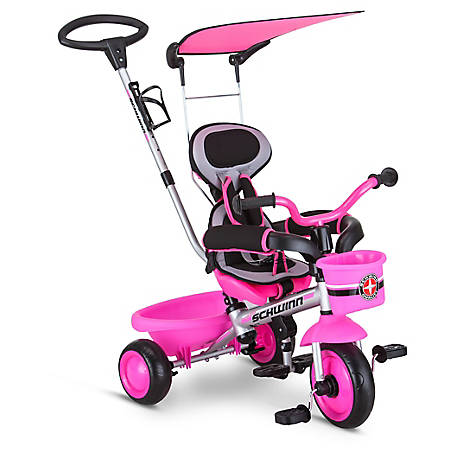 Schwinn Easy Steer 4-in-1 Tricycle, Pink, S6769