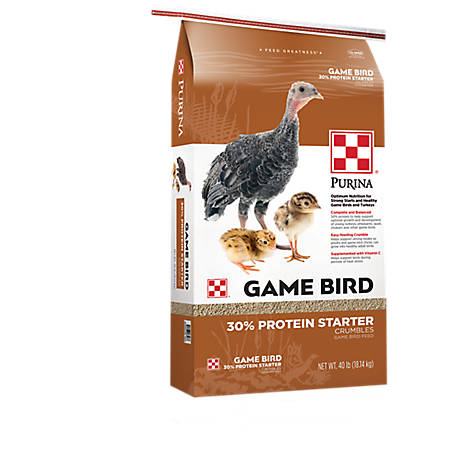 Purina Game Bird and Turkey Starter 30%, 40 lb., 3005640-305