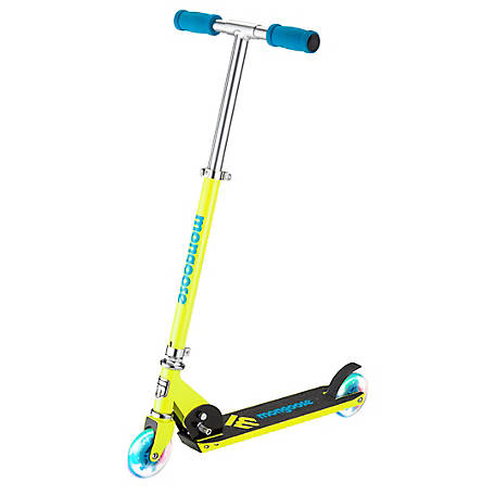 Mongoose Force 1.0 Lighted Folding Scooter, Yellow, R6191