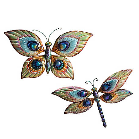 Sunjoy Burnley Butterfly Dragonfly Decor D110007900 At Tractor Supply Co