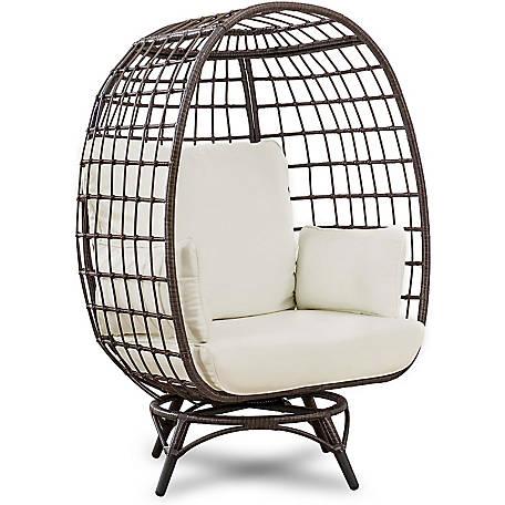 Zitza Lounge Stoel.Sunjoy Zita Swivel Egg Chair A207000700 At Tractor Supply Co
