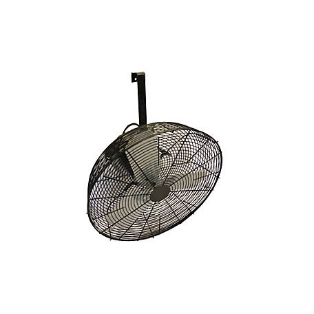 Hessaire 24 in. Black Fan, 24B4B-S