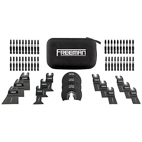 Freeman 55-Piece Bits & Blades Kit with Case, P55BBK