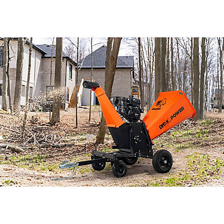 DK2 Power 6 in. 14HP Kinetic Chipper with Electric Start, Auto Blade Feed & KOHLER CH440 Command PRO Commercial Gas Engine