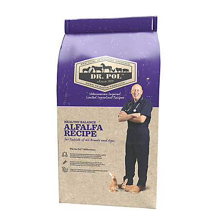 Dr. Pol Healthy Alfalfa Extruded Rabbit Feed, 40 lb.
