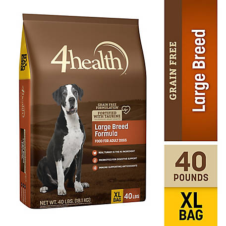 4health Grain-Free Large Breed Dry Dog Food, 40 lb. Bag