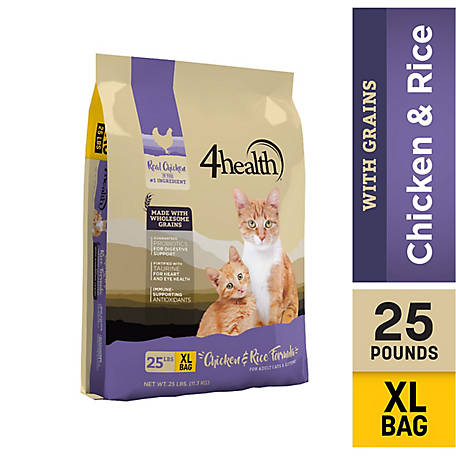 4healthAll Life Stages Dry Cat Food, 25 lb. Bag