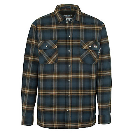 Wolverine Men's Fire Resistant Plaid Jacket, W1207550