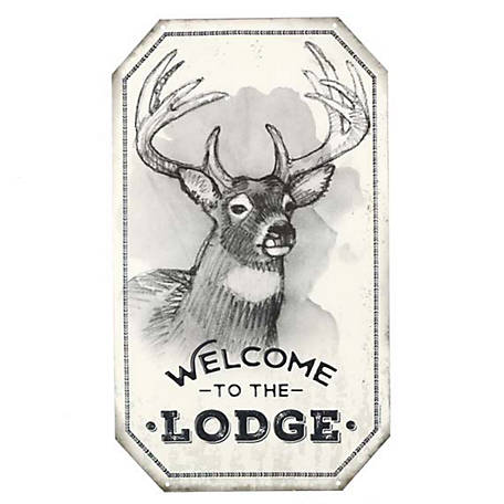 Open Road Brands Welcome To The Lodge Embossed Tin Sign