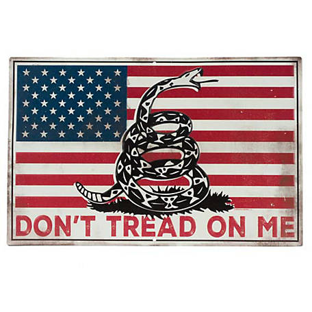 Open Road Brands Don't Tread On Me American Flag Sign