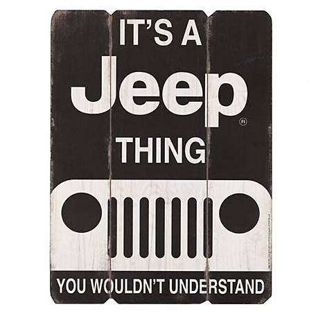 Jeep 'It's A Jeep Thing, You Wouldn't Understand' Rustic Plank Sign