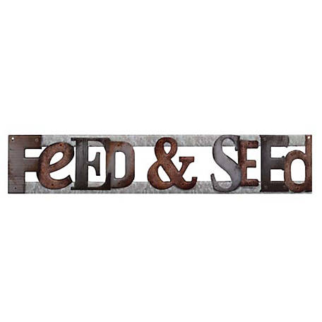 Open Road Brands Feed And Seed Embossed Metal Sign