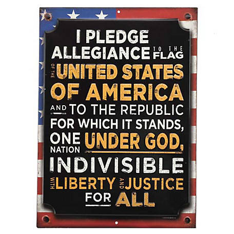 Open Road Brands 'I Pledge Allegiance' Tin Metal Wall Art