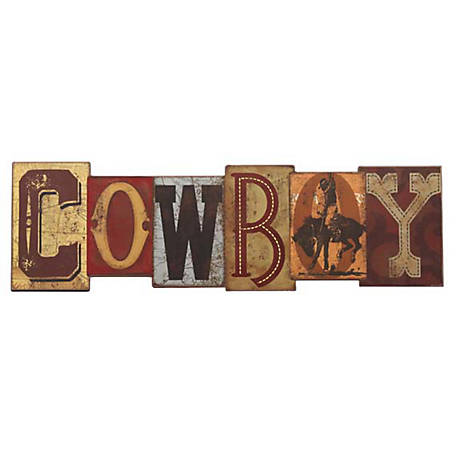 Open Road Brands Rustic Cowboy MDF Wood Wall Art Sign