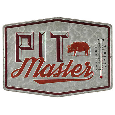 Open Road Brands Pit Master Thermometer Metal Sign