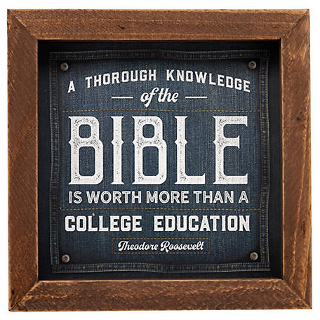 Open Road Brands Knowledge of The Bible Wood Table Art