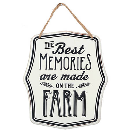 Open Road Brands Memories On The Farm Sign with Hanger