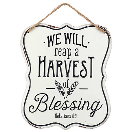 Open Road Brands Harvest of Blessing Metal Sign