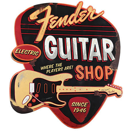 Fender Fender Guitar Shop Embossed Tin Sign