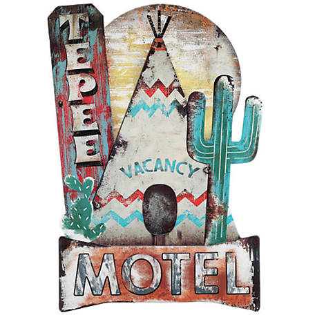 Open Road Brands Teepee Motel Metal Sign