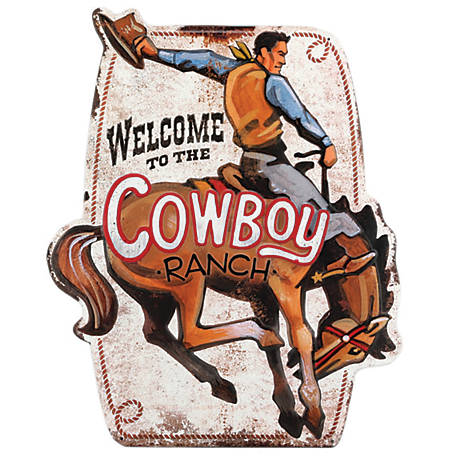Open Road Brands Welcome To The Cowboy Ranch Metal Sign