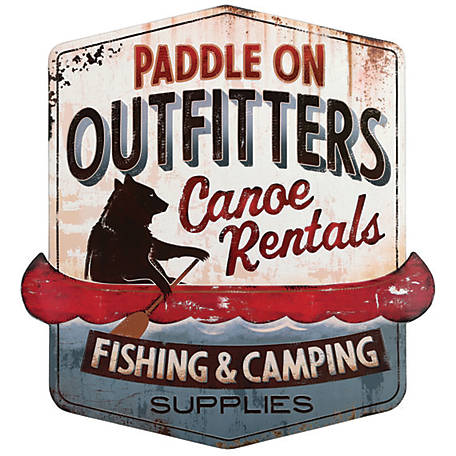 Open Road Brands Paddle On Outfitters Canoe Rentals Sign