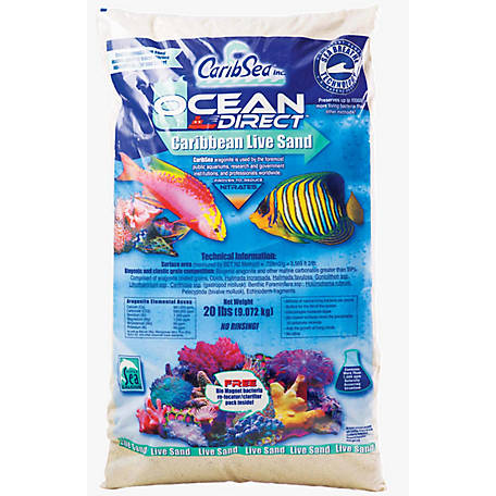 Carib Sea 9009401 Ocean Direct Original Grade Natural Live Sand, Imported, 1 lb.